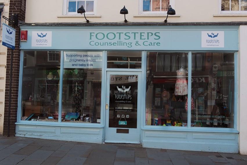 Footsteps Charity shop, Gloucester